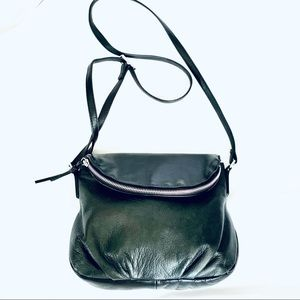 Margot Genuine Leather Natalie Zip Flap Hobo Bag